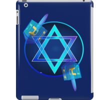 Bright Star and Blue Dreidels iPad Case/Skin