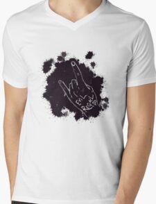 Evil Regal Sign Mens V-Neck T-Shirt