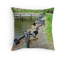 Anchors Aweigh - Spohr Garden - Cape Cod MA Throw Pillow