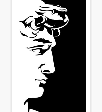 "David ""logo"" Sticker"