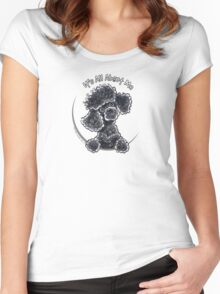 Black Toy Poodle IAAM Women's Fitted Scoop T-Shirt