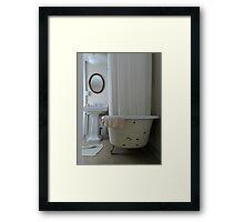 clawfoot bathtub Framed Print
