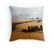 Bran Sands wreck Throw Pillow