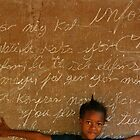 Young Girl in Haiti School by Kent Nickell
