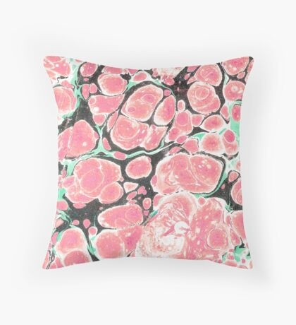Deliciously Marble #redbubble Throw Pillow