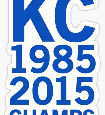 Kansas City Royals 2015 World Series Champs (blue font) Sticker