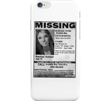 Rachel Amber Lost Poster- (Life is Strange) iPhone Case/Skin
