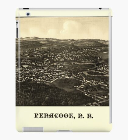 Panoramic Maps Penacook NH iPad Case/Skin