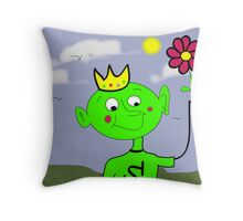 The King of Spring Throw Pillow