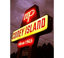 Small Town Coney Island Photographic Print