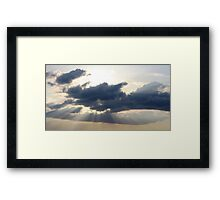 Rays From The Sky Framed Print