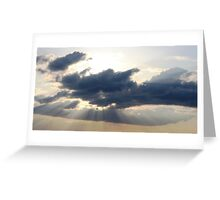 Rays From The Sky Greeting Card