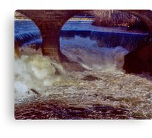 Main Street Dam on the Blackstone Canvas Print