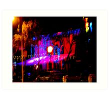 Light playing at night in West Hollywood Art Print