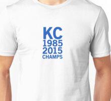 Kansas City Royals 2015 World Series Champs (blue font) Unisex T-Shirt