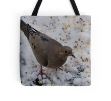 Mourning Dove Eating Tote Bag