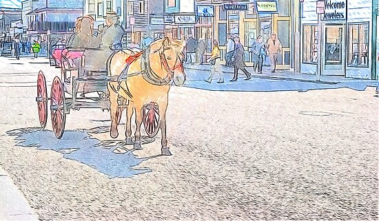 Downtown Skagway by KathleenRinker