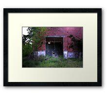 Collapsed Entrance Framed Print