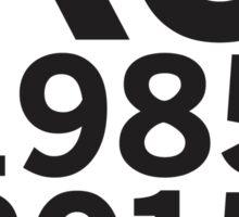 Kansas City Royals 2015 World Series Champs (black font) Sticker