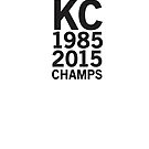 Kansas City Royals 2015 World Series Champs (black font) by johnnabrynn