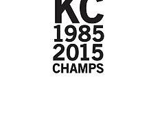 Kansas City Royals 2015 World Series Champs (black font) by johnnabrynn