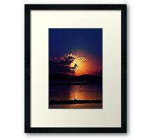 Sunrise HDR Framed Print