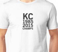 Kansas City Royals 2015 World Series Champs (black font) Unisex T-Shirt