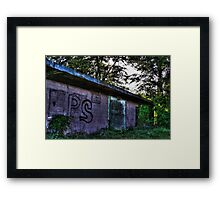 Pink Decay Framed Print