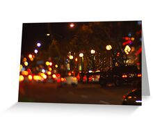 West Hollywood Lights 1 Greeting Card