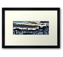 Abstract San Francisco Bay Bridge on Cloudy Day Framed Print