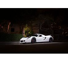 White Hennessey Venom GT Photographic Print