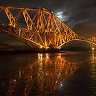 Forth Rail Bridge by Night by Martin Slowey