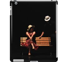 Couple on a park bench at night (stage performance)  iPad Case/Skin