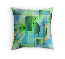 Crystal Garden Throw Pillow