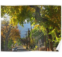 Fall Trees In Old Neighborhood Poster