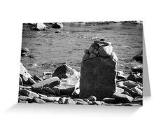 Rocks on the Rivers Edge  Greeting Card