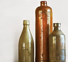 Vintage Bottles by Laurie Minor