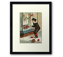 Wanted - A Boy To Lick Christmas Candy Cane Framed Print