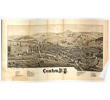 Panoramic Maps Camden NY Poster