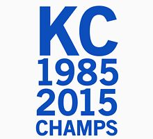 KC Royals 2015 Champions LARGE BLUE FONT Unisex T-Shirt