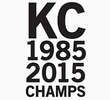 KC Royals 2015 Champions LARGE BLACK FONT Unisex T-Shirt