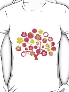 tree of life - pink & yellow T-Shirt