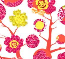 tree of life - pink & yellow Sticker