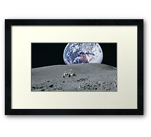 The Moon Buggy Framed Print