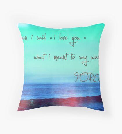 as eternal as the waves in the ocean Throw Pillow