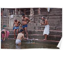 Ganges Bathers Poster
