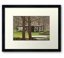 Mid Century Modern - Glass House Framed Print