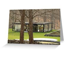 Mid Century Modern - Glass House Greeting Card