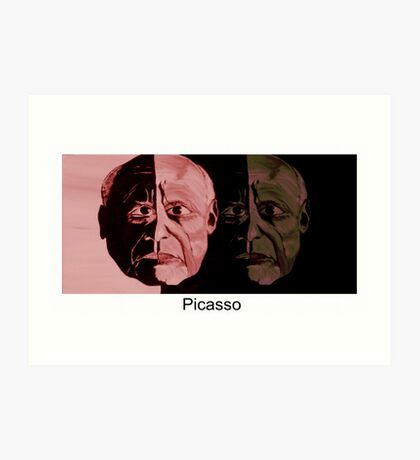Picasso Now and Then Art Print