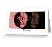 Picasso Now and Then Greeting Card